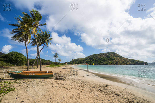 January 3, 2013: Idyllic view of Cockleshell bay- St. Kitts and Nevis- Caribbean