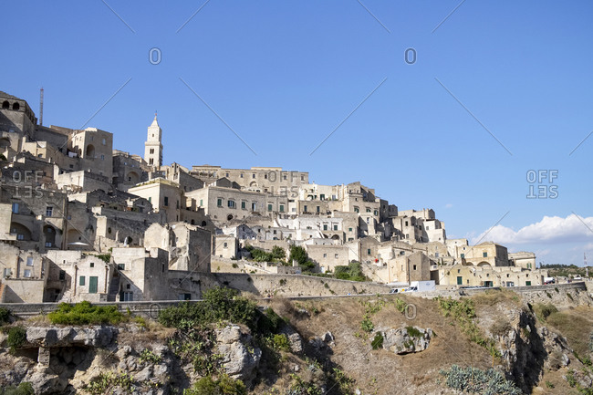 Italy- Basilicata- Matera- View of old town