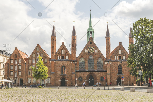 Portal of Holy Spirit Hospital in in Lübeck- Germany
