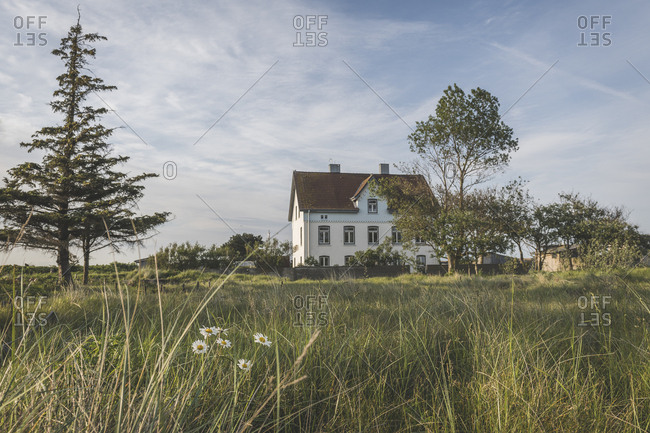 Germany- Schleswig-Holstein- Schleimunde- Former pilotage house seen on peaceful day