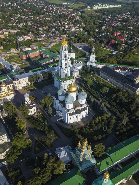 Aerial view of Trinity Lavra Of St. Sergius- Moscow- Russia