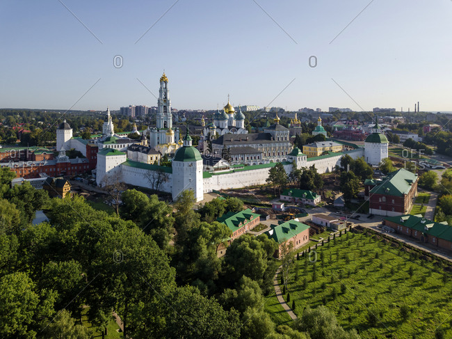 Trinity Lavra Of St. Sergius against clear sky at Sergiev Posad- Moscow- Russia