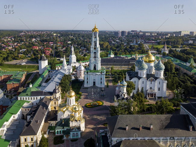 Trinity Lavra Of St. Sergius against clear sky in Sergiev Posad- Moscow- Russia