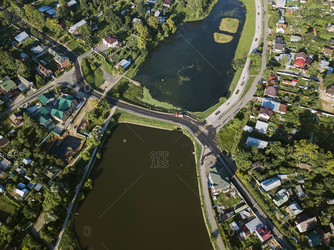 Aerial view of Sergiev Posad town- Moscow- Russia