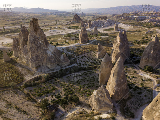 Aerial view of Dove complex monastery at Goreme- Cappadocia- Turkey