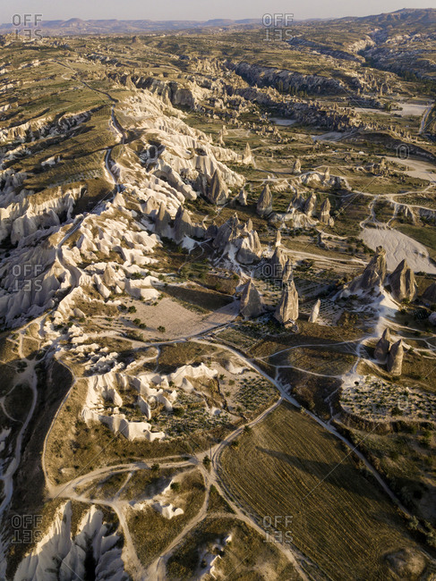 Aerial view of Dove complex monastery at Cappadocia- Turkey