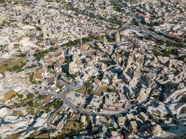 Aerial view of town in Goreme- Cappadocia- Turkey