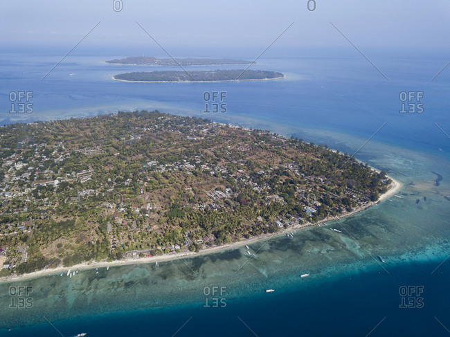 Aerial view of Islands against sky at Bali- Indonesia