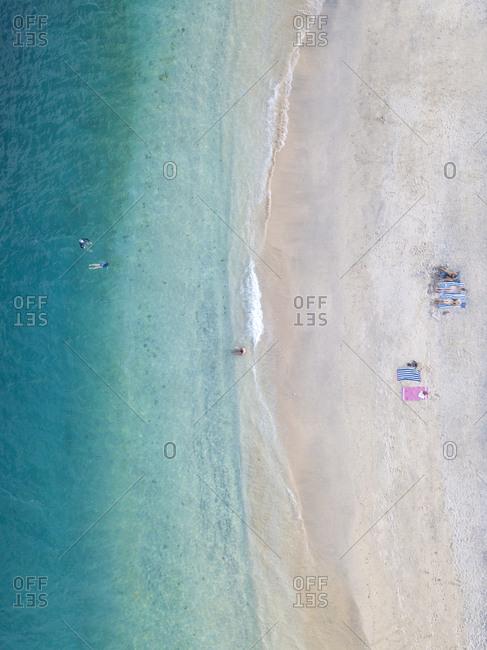 Aerial view of beach at Gili-Air Island- Bali- Indonesia
