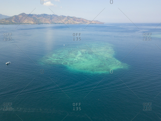 Aerial view of atoll at Gili-Air Island against sky- Bali- Indonesia