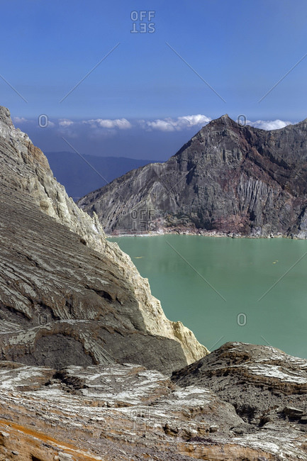 Indonesia- Java- scenic view of Ijen volcano