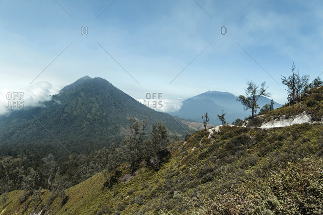 Indonesia- Java- mountain landscape