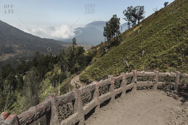 Indonesia- Java- footpath in mountain landscape