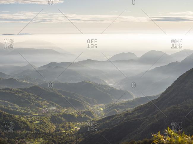 View over Recoaro Terme- Veneto- Italy