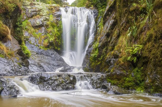 New Zealand- Northland Region- Long exposure of Piroa Falls on Ahuroa River
