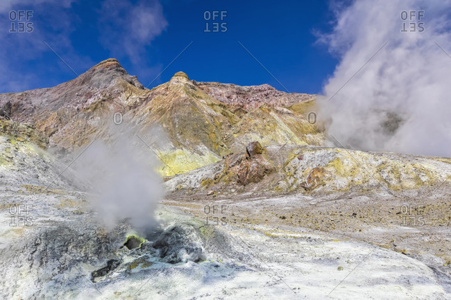 New Zealand- North Island- Whakatane- Active fumaroles of White Island (Whakaari)