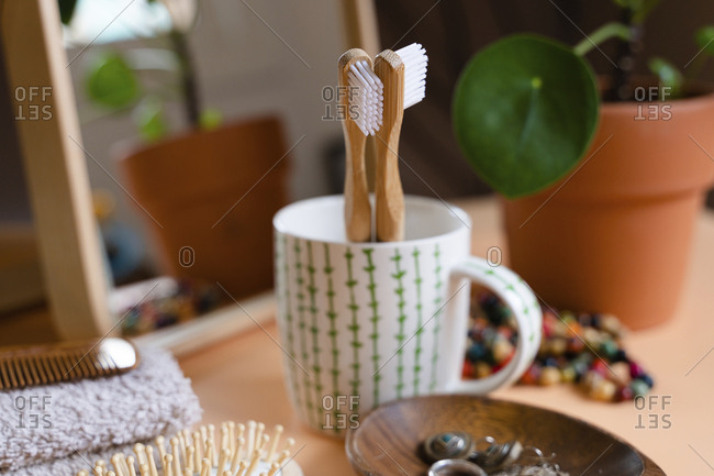 Zero waste eco-friendly bamboo toothbrushes