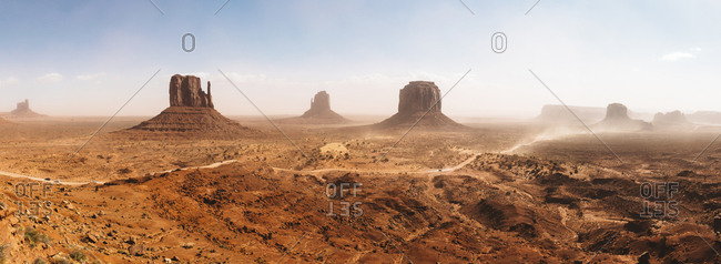 USA- Arizona- Panorama of Monument Valley