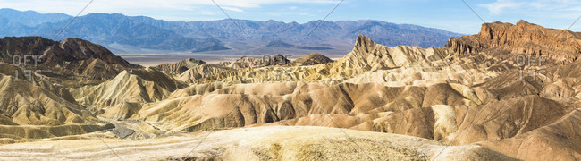 USA- California- Panorama of Zabriskie Point
