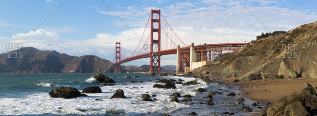 USA- California- San Francisco- Panorama of Golden Gate Bridge