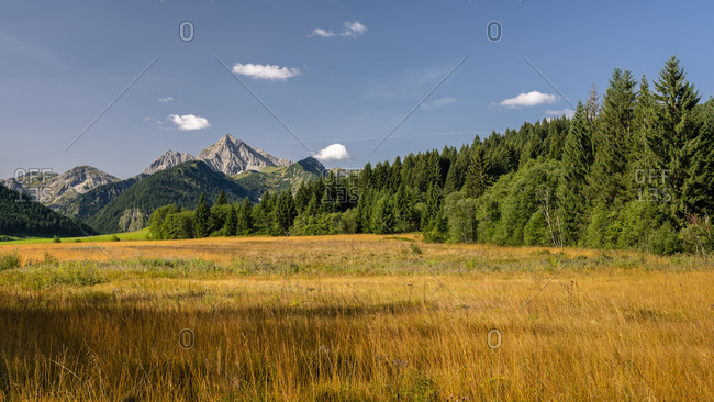 Austria- Tyrol- Scenic view of Tannheim Valley in Allgau Alps