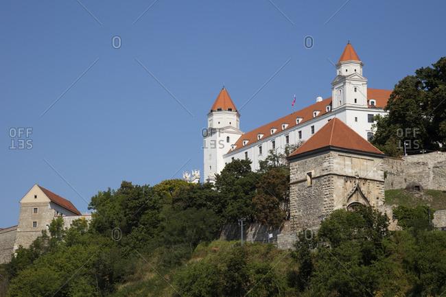 Slovakia- Bratislava-View of Bratislava castle
