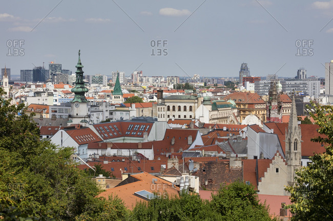 August 12, 2019: Slovakia- Bratislava- View of city