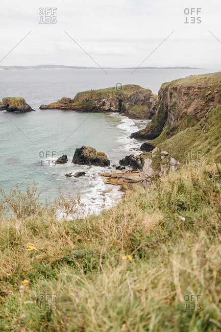 View of the Atlantic coast in County Antrim, Northern Ireland