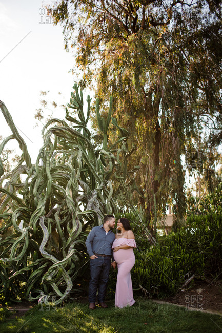 Mid Thirties Couple Maternity Desert Gardens