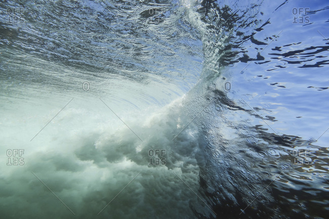 Under water view of wave