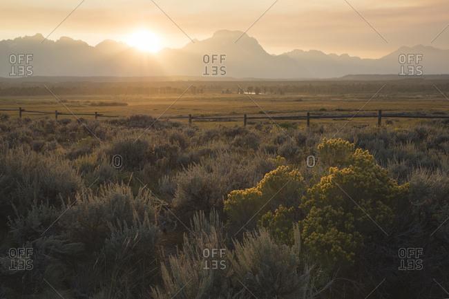 Sunset At Gran Teton national Park