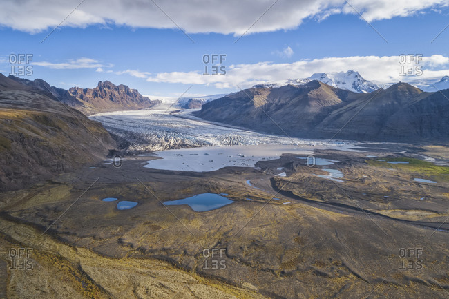 Aerial view of Vatnajokull Glacier