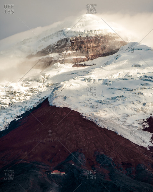 Mystic active volcano in the Ecuador