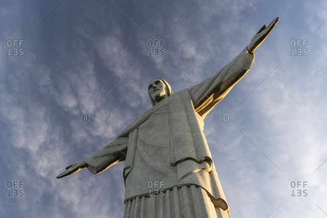 Brazil, Rio de Janeiro - June 19, 2019: View to Christ the Redeemer statue on top of Corcovado mountain