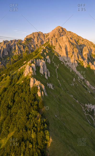 Grignetta (grigna meridionale) aerial view, Lecco, Lombardy, Italy