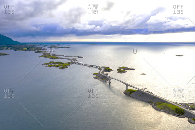 Storseisundet bridge and sea, Atlantic road, More og Romsdal, Norway