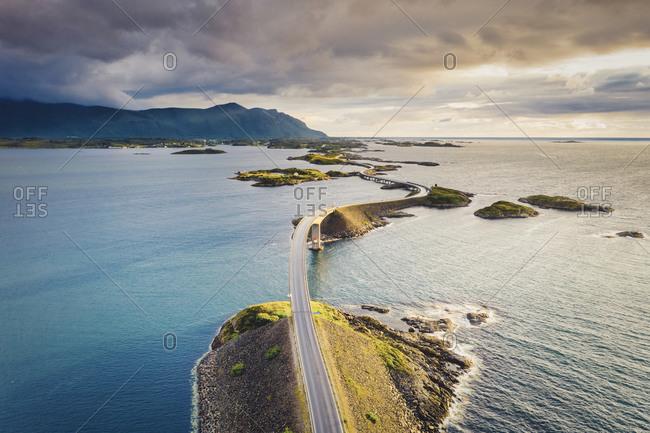 Storseisundet bridge and sea, Atlantic road, More og Romsdal, Norway