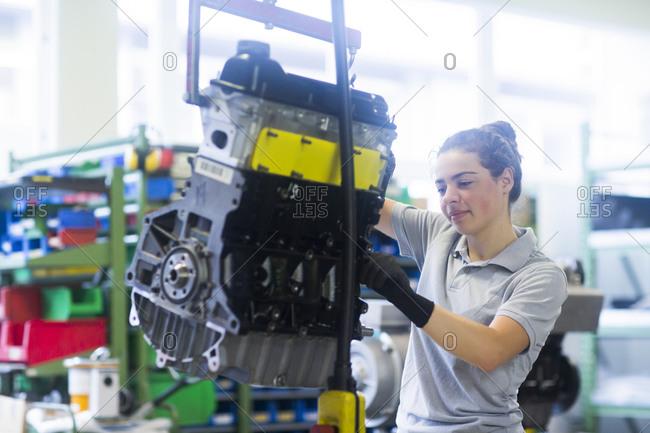 Block heat and power plant engineer female