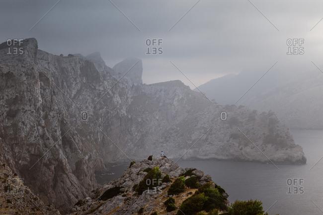 Landscape of giant cliffs in Mallorca