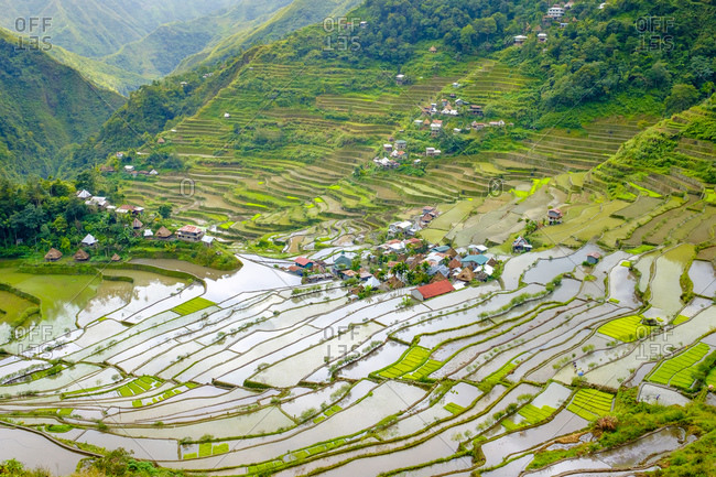 Batad village UNESCO World Heritage rice terraces, Banaue, Philippines