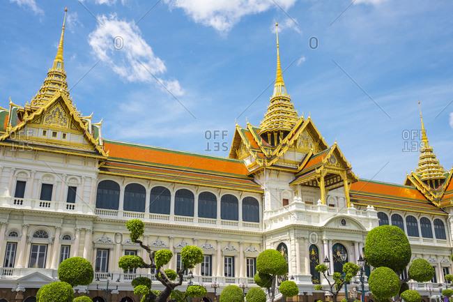 Thailand, Bangkok, Bangkok - May 21, 2015: Phra Thinang Chakri Maha Prasat throne hall, Grand Palace, Bangkok