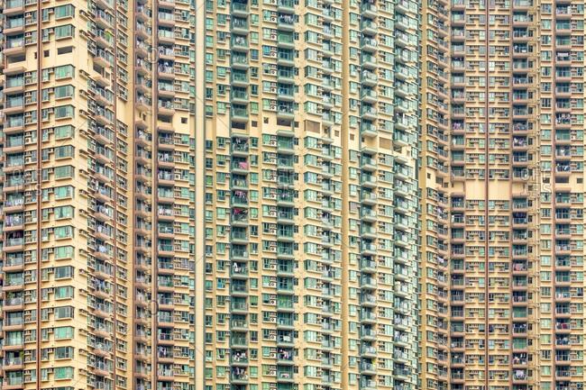Apartment block towers in Tseung Kwan O, Hong Kong