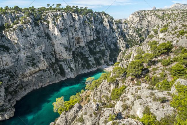 Calanque d'En-Vau, Cassis, Provence-Alpes-C�te d'Azur, France