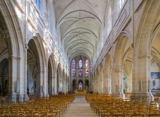 France, Centre-Val de Loire, Blois - March 5, 2014: Interior of Blois Cathedral (Cath�drale Saint-Louis de Blois), France