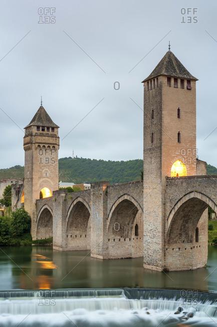 Pont Valentrbridge, Cahors, Midi-Pyr�n�es, France