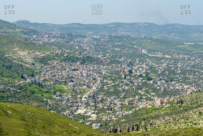 Town of Jaba', view from Mt. Bayzeed, Jenin, West Bank, Palestine
