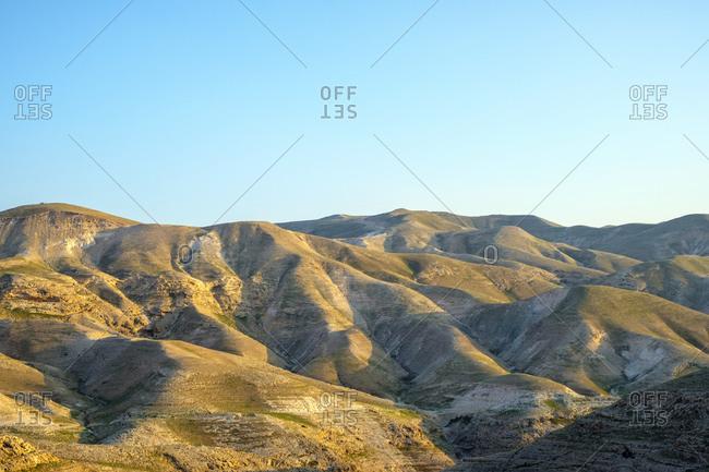 Judean Desert landscape near Jericho, Jericho Governorate, West Bank, Palestine.