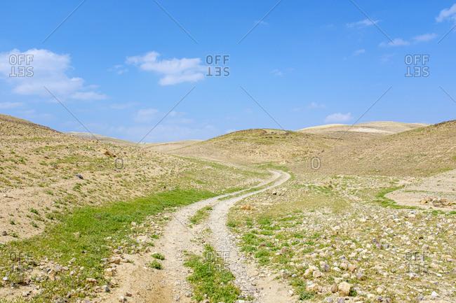The Masar Ibrahim trail passes through desert landscape, Palestine