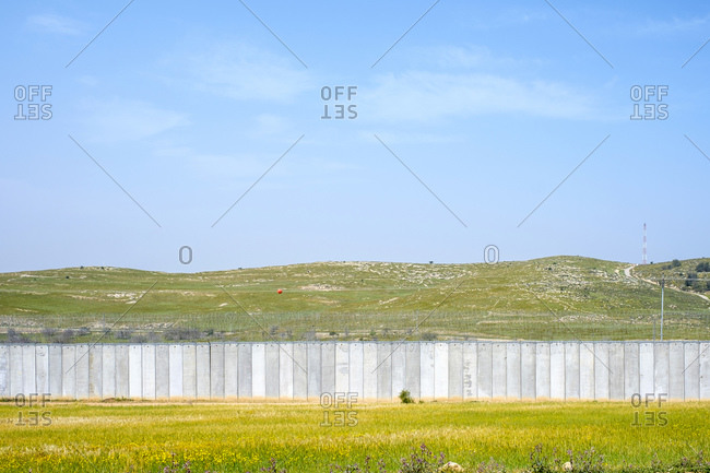 Israeli West Bank Separation Barrier wall, Beit Mirsim, Palestine.
