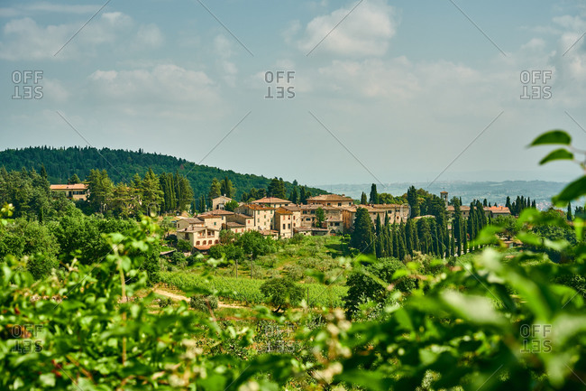 Old settlement and pasture in Italy